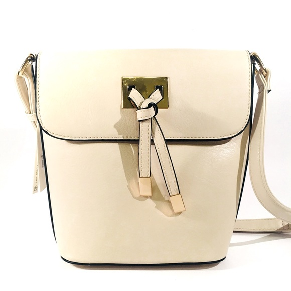 good out x low price sale details for NWT Isabelle Handbag Vegan Ivory Crossbody Bag NWT